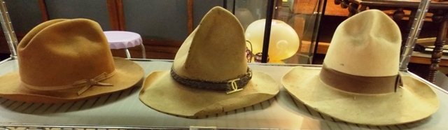 COLLECTION WESTERN HATS... FIRST ONE TO LEFT MADE FOR...