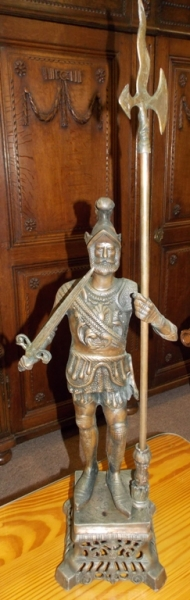 """ROMAN SOLDIER 37""""T FLASHED COPPER STATUE"""