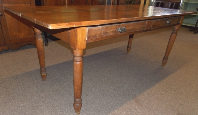 COUNTRY PINE TABLE, 33x78-1/2""