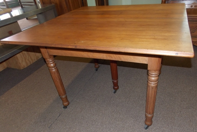 "1900's MIXED WOODS 45"" SQUARE DINING TABLE..."