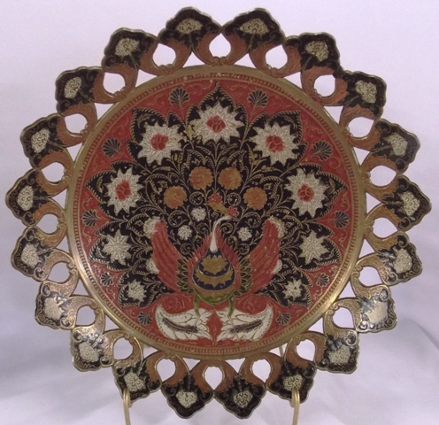 SOLID INDIA DECORATED BRASS BOWL
