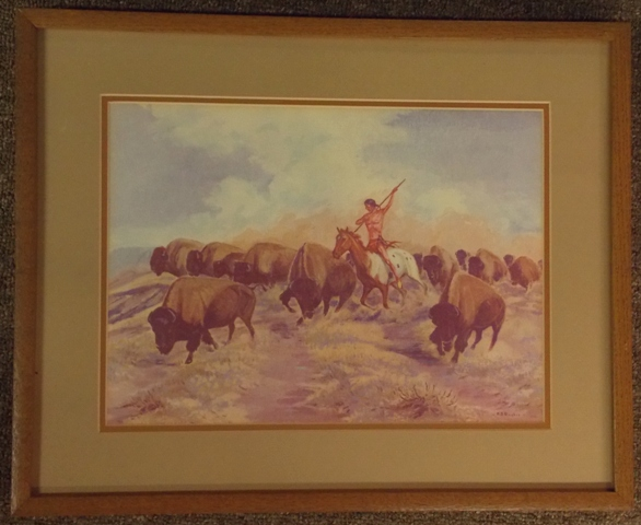 H.D.BUGBEE-1951 11x15 FRAMED/MATTED PRINT
