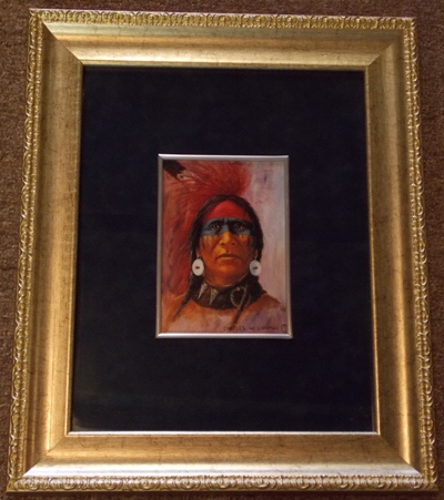 CHARLES W.CHAPMAN-'95 5X7 FRAMED/MATTED PRINT...