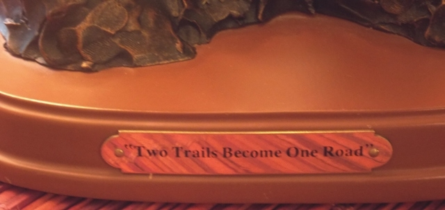 VIEW 2~TWO TRAILS BECOME ONE ROAD BRONZE