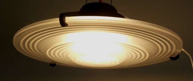 FROSTED GLASS SHADE CEILING FIXTURE FROM...