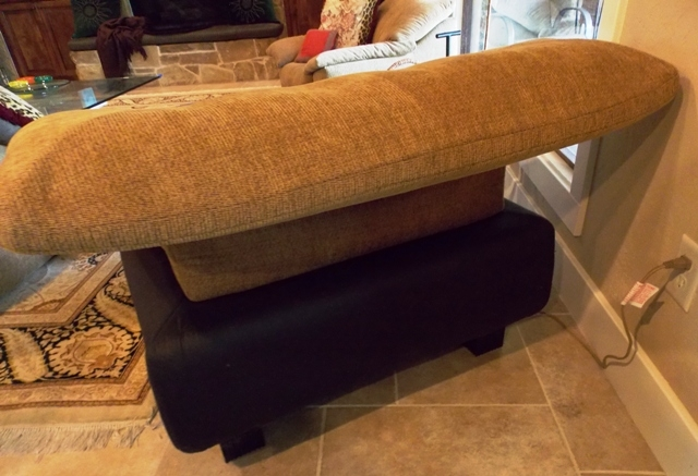 VIEW 3~LINGNE-ROSET-FRANCE 1980'S CHAIR & OTTOMAN