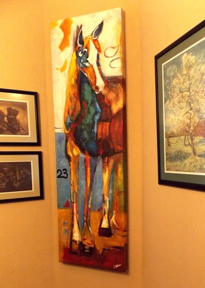 """""""HORSE"""" SIGNED OIL ON CANVAS, 72""""X22"""""""