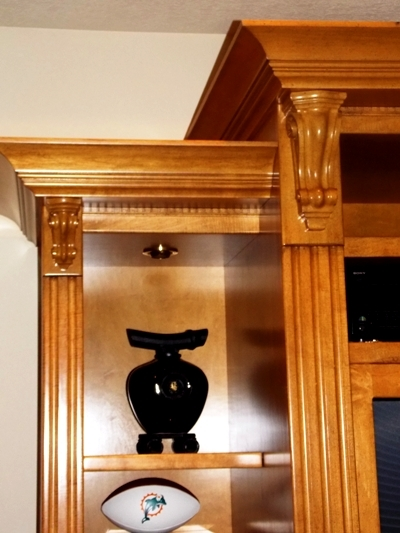 View 2~CUSTOM BUILT ENTERTAINMENT CABINET, 5 SECTIONS FOR EASY MOVING