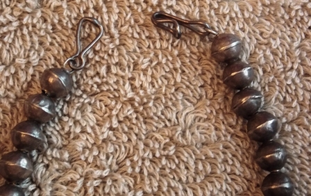 View 2~VINTAGE SQUASH BLOSSOM NECKLACE, UNSIGNED