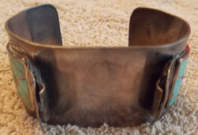 VIEW 2~1970'S HAND MADE INDIAN CUFF/WATCH HOLDER BRACLET
