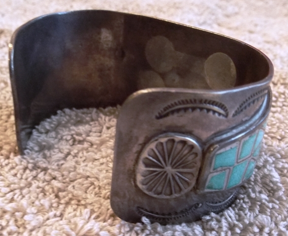 VIEW 3~1970'S HAND MADE INDIAN CUFF/WATCH HOLDER BRACLET