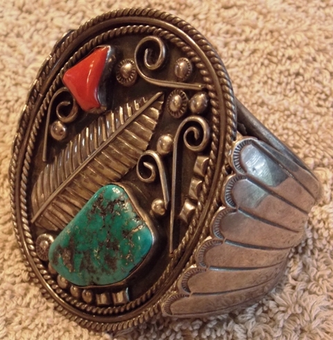 VIEW 2~1970'S HANDMADE INDIAN CUFF BRACLET