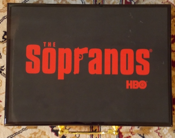 SOPRANOS POKER CASE WITH CHIPS, CARDS, ETC WITH...