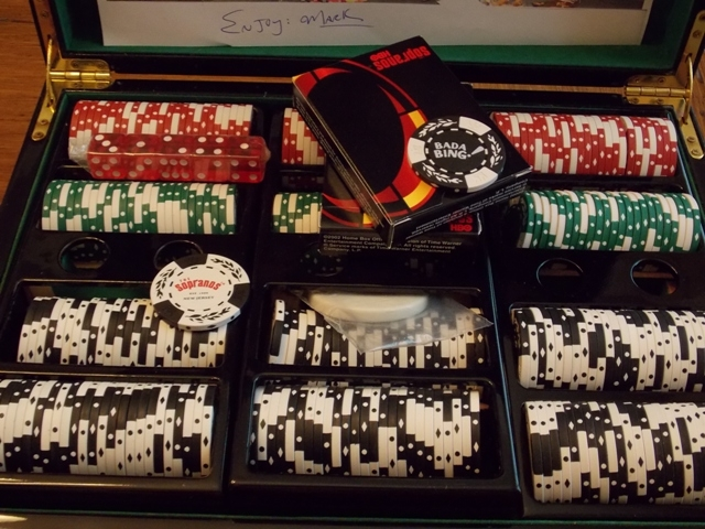 VIEW 2~SOPRANOS POKER CASE WITH CHIPS, CARDS, ETC