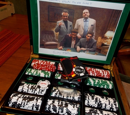 VIEW 3~SOPRANOS POKER CASE WITH CHIPS, CARDS, ETC