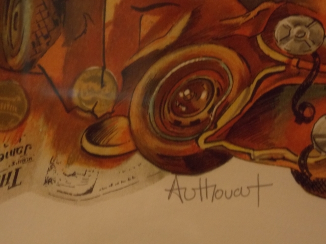 """VIEW 2~""""EAST OF EDEN"""" AUTHOUART~SIGNED, NUMBERED LITHO-FR/MATT"""