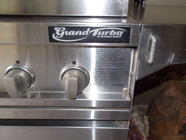 View 2~Grand Turbo by Barbequeres Galore Stainless Grill