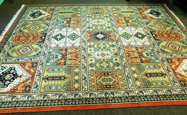 View 2~PERSIAN STYLE PATCHWORK 8x11' RUG