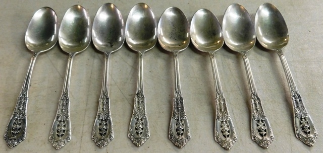 "ROSEPOINT BY WALLACE, 7~ 6-1/4"" TEASPOONS"
