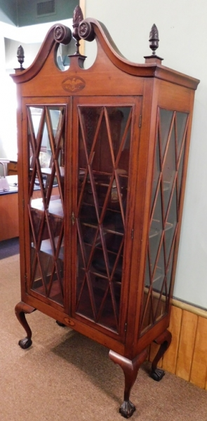 View 2~ EARLY CLAW-FOOT CHINA/DISPLAY CABINET