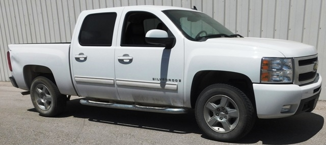 2009 CHEVROLET SILVERADO LTZ, EXTENDED CAB, APPX 15,000 MILES; SOME BODY DAMAGE