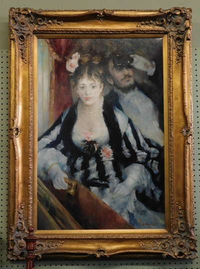 RENOIR OIL ON CANVAS (At The Opera) COPY BY ROY ALLISON