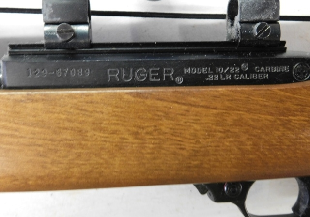 VIEW 3~ RUGER MODEL 1022 CARBINE, 22 CAL, BUSHNELL SPORTVIEW SCOPE