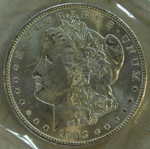 1903-O MORGAN UNCIRCULATED SILVER DOLLAR