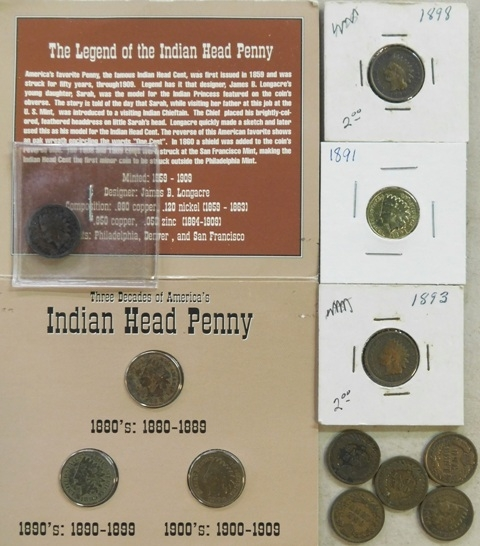 GROUP~INDIAN HEAD PENNIES