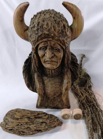 "16"" INDIAN BUST"