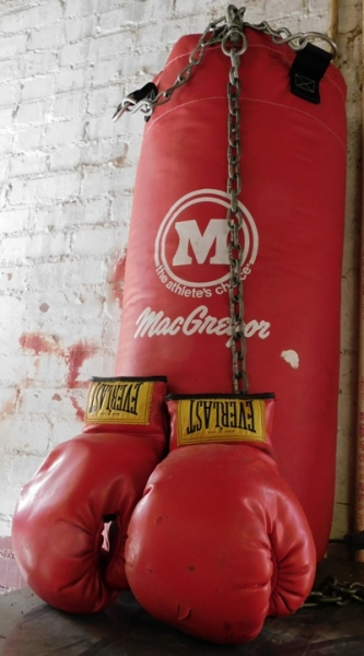 MacGREGOR PUNCHING BAG; BOX GLOVES