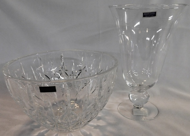 "MARQUIS BY WATERFORD VASE, 9"" BOWL"