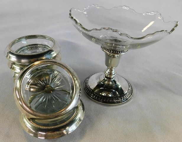 STERLING F. WHITING CP,[PTE & COASTERS W/GLASS