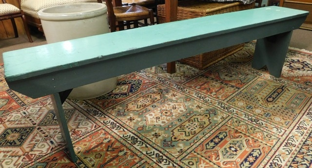 "72""L PAINTED COUNTRY BENCH"