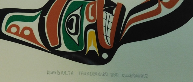 "View 2~FR-MATT-SIGN ""Kwagiulth Thunderbird & Killerwhales"""