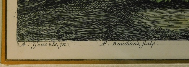 "View 2~ Engraving of ""FRENCH LANDSCAPE"" by Abraham Genoels"