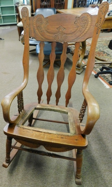 PRESSED BACK 1900's ROCKER (Needs New Cane Seat)