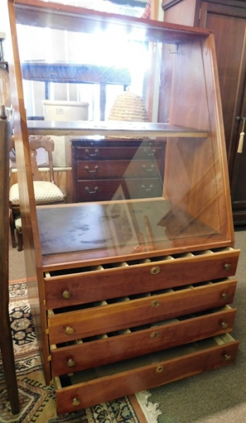 "View 3~CASE KNIFE FLOOR 54"" DISPLAY CASE"
