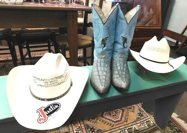 ALLIGATOR BOOTS+ STETSON & JUSTIN HATS