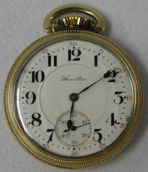 ELGIN GF OPEN FACE POCkET WATCH