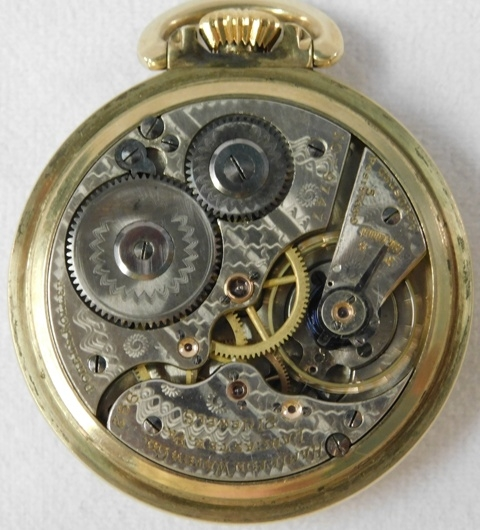 View 2~ELGIN GF OPEN FACE POCKET WATCH