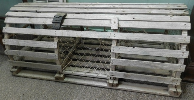 VINTAGE WOOD LOBSTER TRAP FROM MAIN