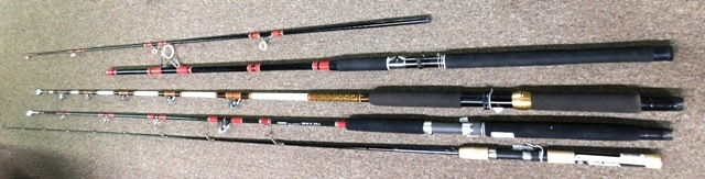 GARCIA, SHAKESPEAR, FENWICK FISHING RODS