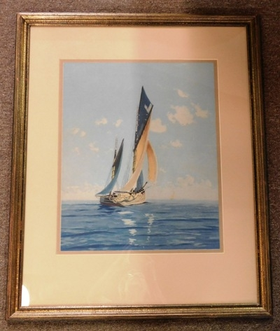 FR-MATT-SIGNED ART WORK OF SAILING VESSEL
