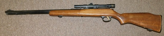 MARLIN 22 CAL. RIFLE W/SCOPE, BOLT ACTION, MIDEL 783