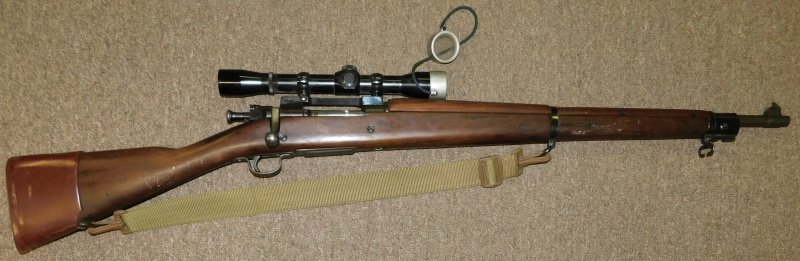 View 2~REMINGTON-SPRINGFIRIELD RIFLE, MODEL 03-A3, 30.06 CAL., PERMA-CENTER SCOPE