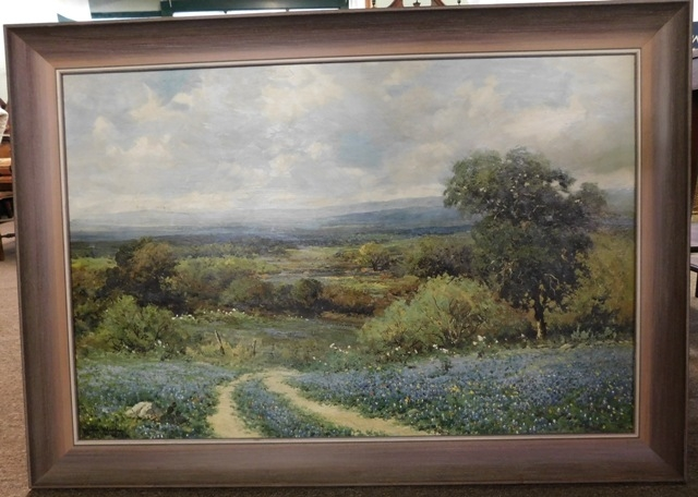"FRAMED ROBERT WOOD 36x24 GICLEE ""Texas Spring"""