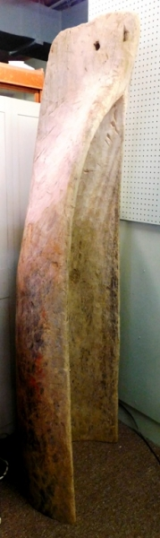 VIEW 2~ONE-HALF OF HAND HEWN/DUGOUT CANOE