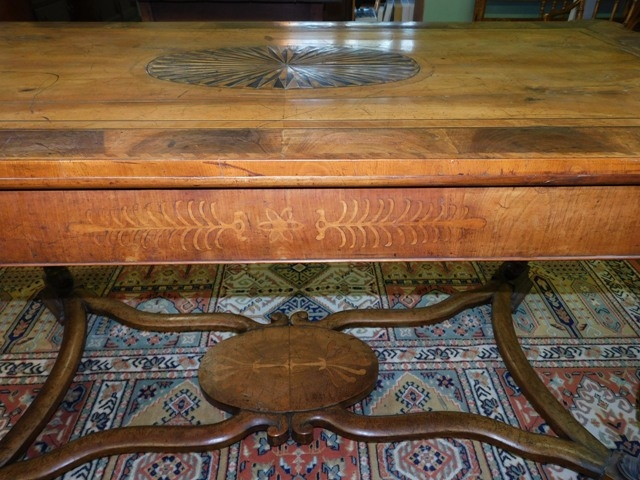 View 5~17th CENTURY DUTCH TABLE, PARQUETRY TOP, SIDES & STRETCHERS FROM OXFORD UNIV.
