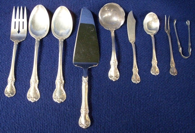 TOWLE-OLD MASTER STERLING FLATWARE, APX 69 PCS